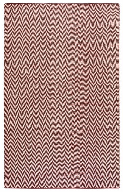 Rizzy Rugs Burgundy Transitional Hand Woven Dhurrie Area Rug Twist TW2967