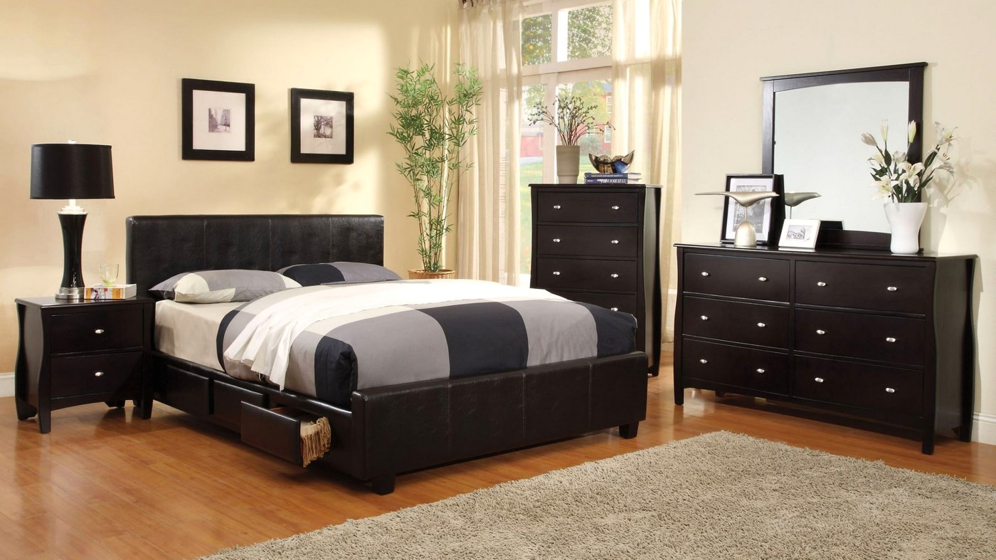 espresso bedroom set burlington contemporary espresso platform bedroom set with 11513