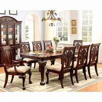 Burrowsville Traditional 5-Pc Ornate 64\ -82\  Dining Table Set in Cherry Finish  sc 1 st  Shop Factory Direct & Formal Dining Room Sets | Formal Dining Table and Chairs | Free ...