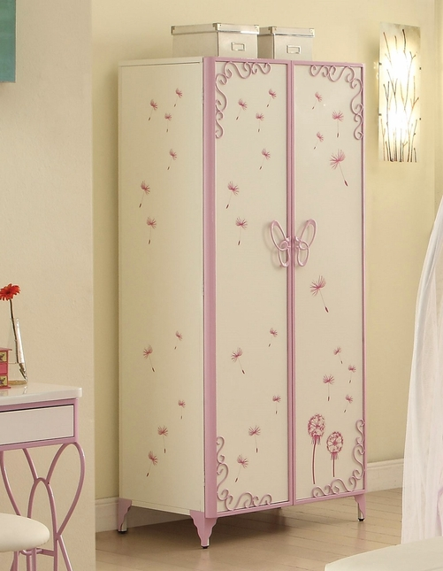 Butterfly Kids Classic Children's Armoire in White & Light ...