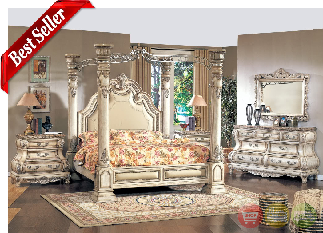 Caledonian victorian inspired canopy bedroom set in for K michelle bedroom furniture