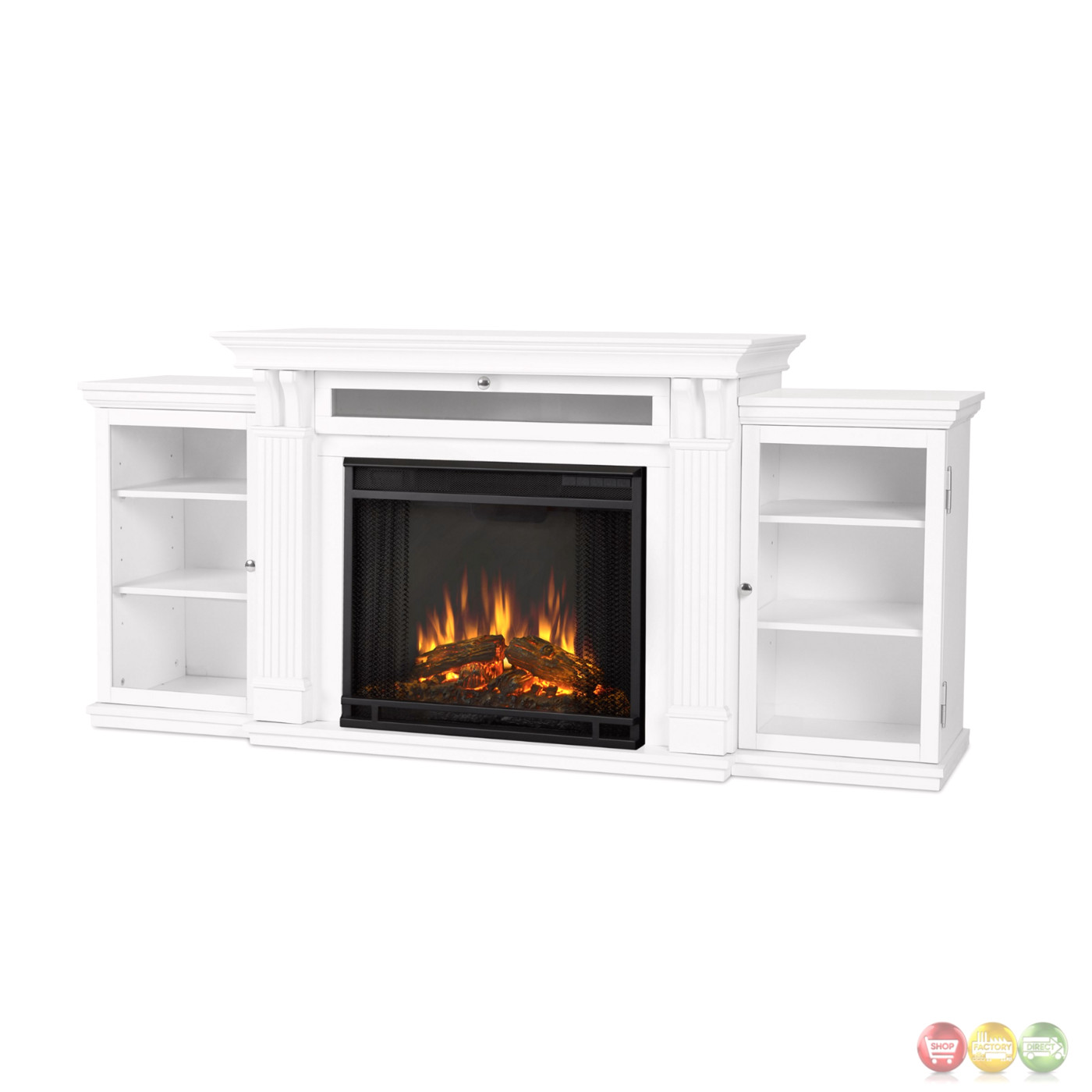 calie entertainment center electric led heater fireplace