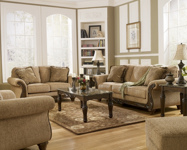 Cambridge Amber Traditional Living Room Furniture Set Wood ...