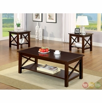 Canan Contemporary Dark Cherry Accent Tables CM4002