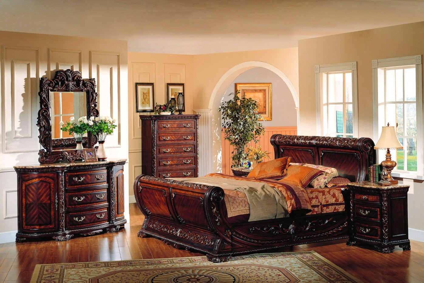 cannes sleigh bed traditional luxury bedroom furniture 12171 | cannes sleigh bed traditional luxury bedroom furniture collection 98