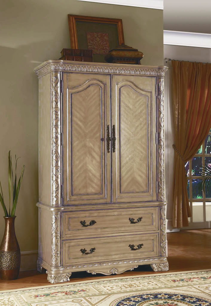 Cannes Whitewash Traditional Bedroom Furniture Collection Free Shipping