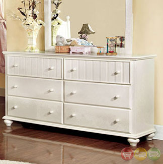 Cape Cod Cottage White Panel Bedroom Set Cm7013s