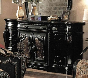 Capelle Luxury Bedroom Furniture Set Black Marble Tops Free Shipping
