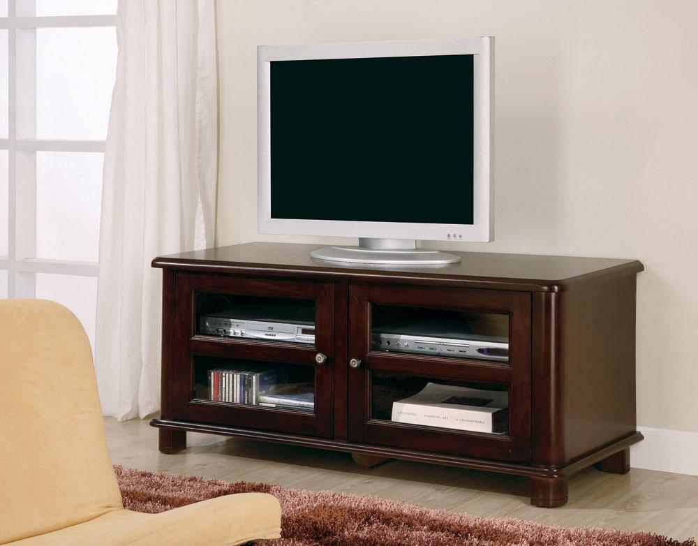 Cappuccino finish storage tv stand entertainment center for Tv console with storage