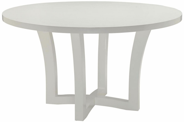 Caprice Round Dining Table With Glossy White Finish