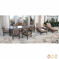 Captiva 10 Piece Ultimate Cast Aluminum Outdoor Patio Furniture Set