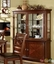 Carlton Contemporary Brown Cherry Formal Dining Set Leatherette Seats