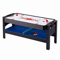 "Carmelli 72"" 3-in-1 Flip Table Billiards Ping Pong Air Hockey Accessories Included"