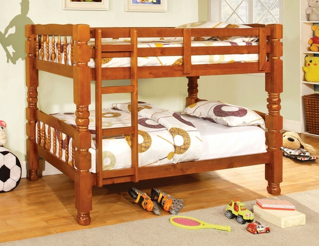 Carolina Oak Bunk Bed with Bold and Sturdy Design