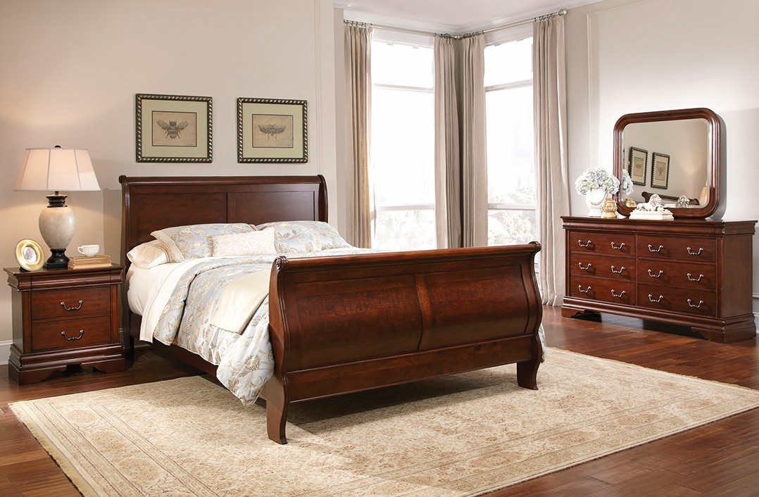 carriage court traditional mahogany finish bedroom set 12204 | carriage court traditional mahogany finish bedroom set 102
