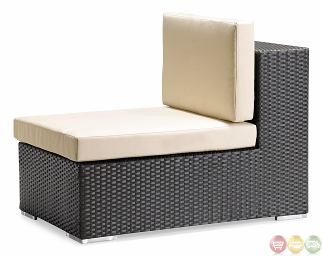 Cartagena Espresso Outdoor Middle Chair Zuo Modern 701003