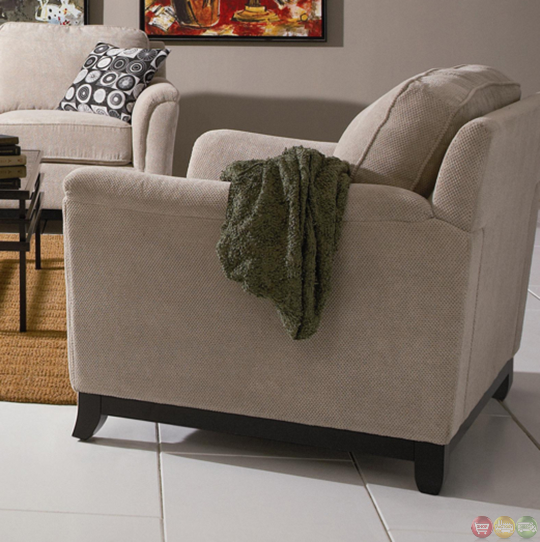 carver chenille fabric living room sofa and loveseat set neutral color