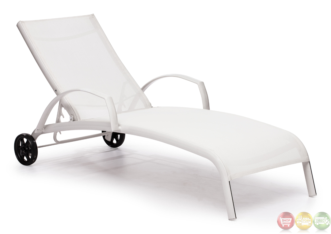 casam white chaise lounge zuo modern 703077 modern outdoor furniture free shipping shopfactorydirect. Black Bedroom Furniture Sets. Home Design Ideas