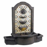"Cascada 45""H Floor Fountain Colorful Madrid Tile Pattern w/ Light 50721MD"