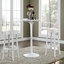 Set of 2, Casper Modern Transparent Acrylic Bar Stool With Foot Stretcher, White