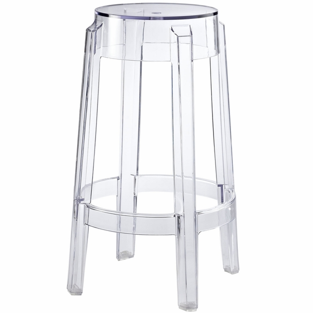 Casper Modernistic Transparent Acrylic Counter Stool Clear
