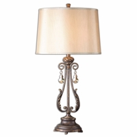 Cassia Oil Rubbed Bronze & Crystal Table Lamp 26145