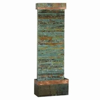 Castle Rock Floor Fountain Copper Horizontal Slate - 50265SLCOP