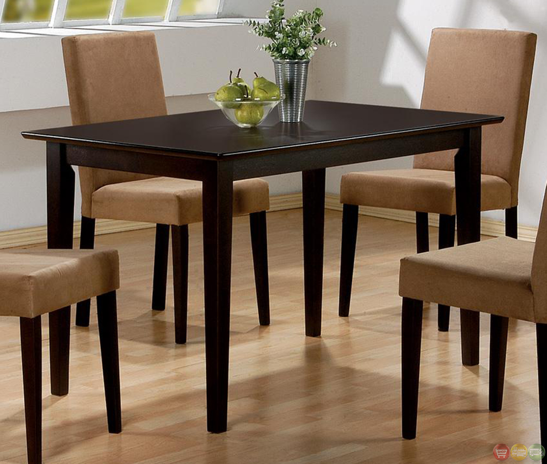Casual Dining Room Sets: Casual 5 Piece Microfiber Upholstery Dining Room Set