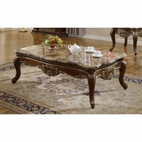 Catania Dark Cherry Traditional Marble Coffee Table