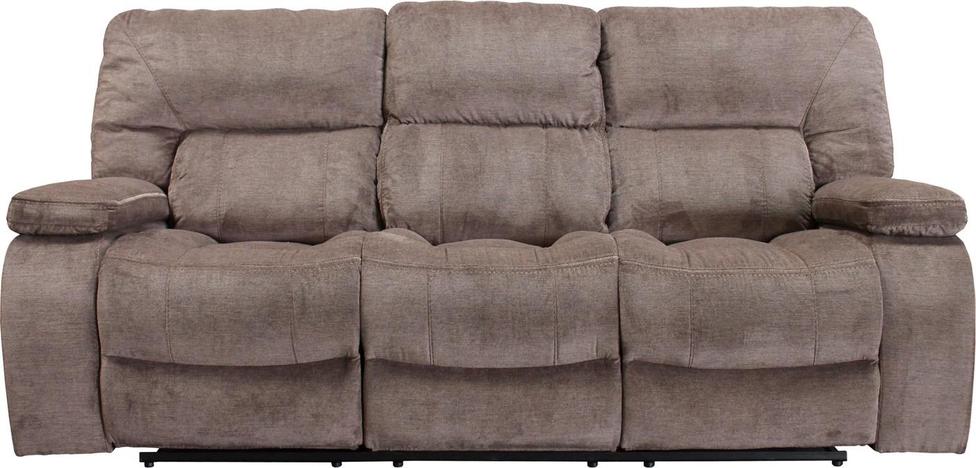 Chapman Kona Contemporary Fabric Reclining Sofa With Pillow Top Arms