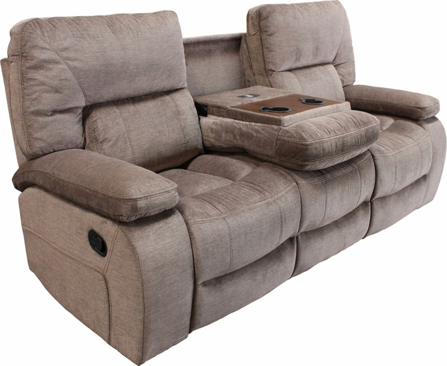 Chapman Kona Contemporary Reclining Sofa With Console And Pillow Top Arms