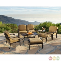 Charleston 7 Piece Cast Aluminum Outdoor Patio Furniture with Sunbrella Fabric