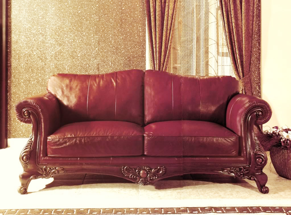 Charlie 100 genuine top grain burgundy leather formal for Formal sofa sets