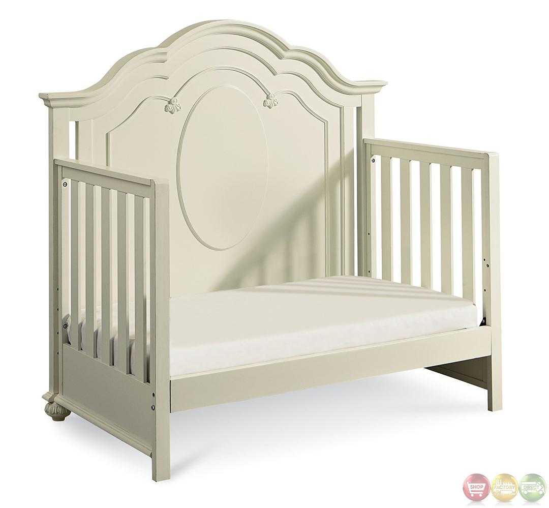 Charlotte Antique White Traditional Convertible Crib