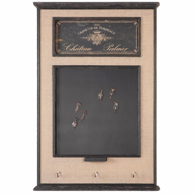 Chateau Palmer Traditional Distressed Aged Black Chalkboard  10510