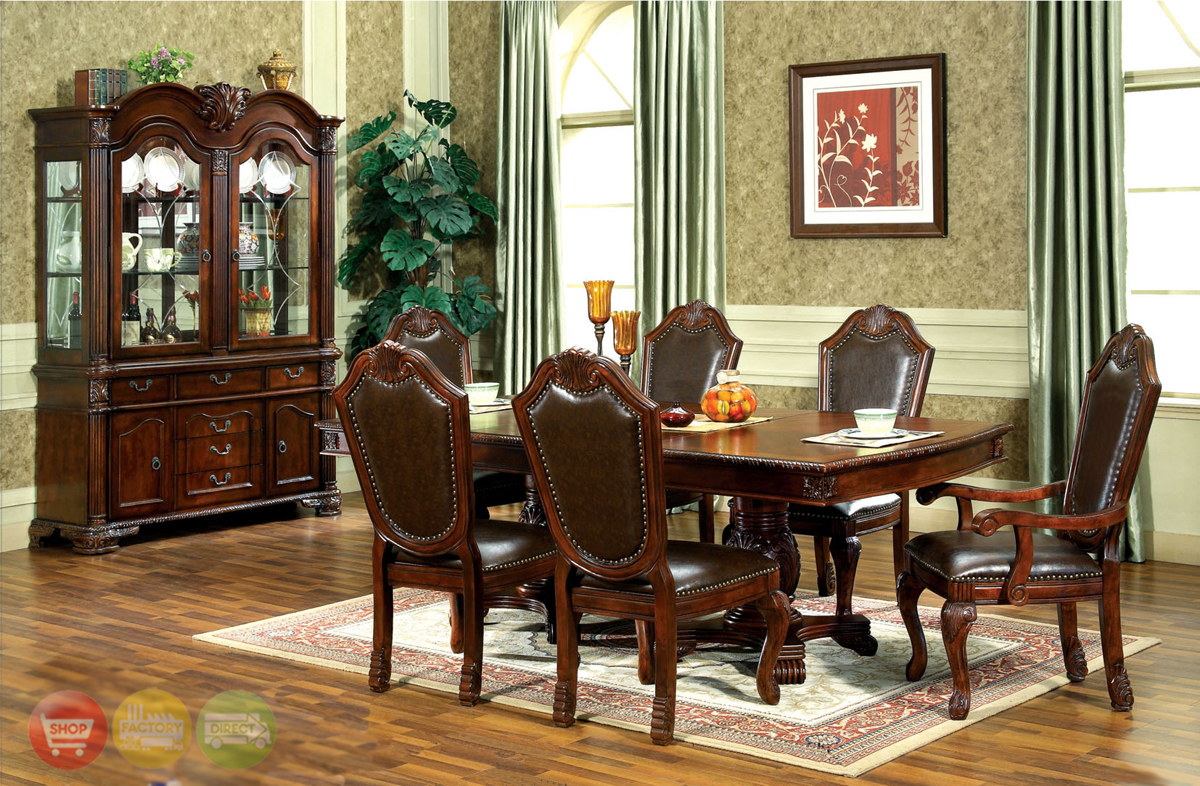 Chateau traditional formal dining room furniture set for Traditional dining room