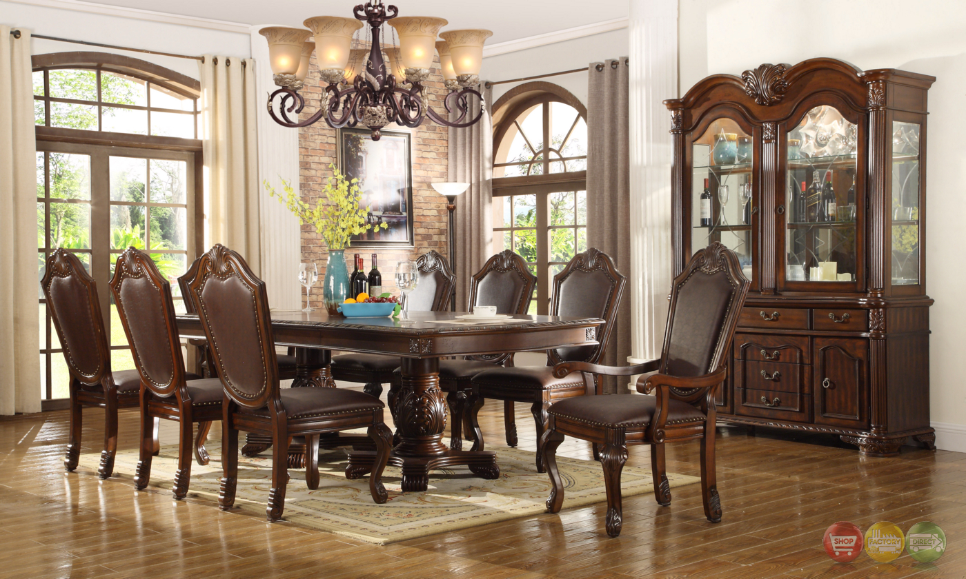 Chateau traditional formal dining room furniture set free for Formal dining room sets