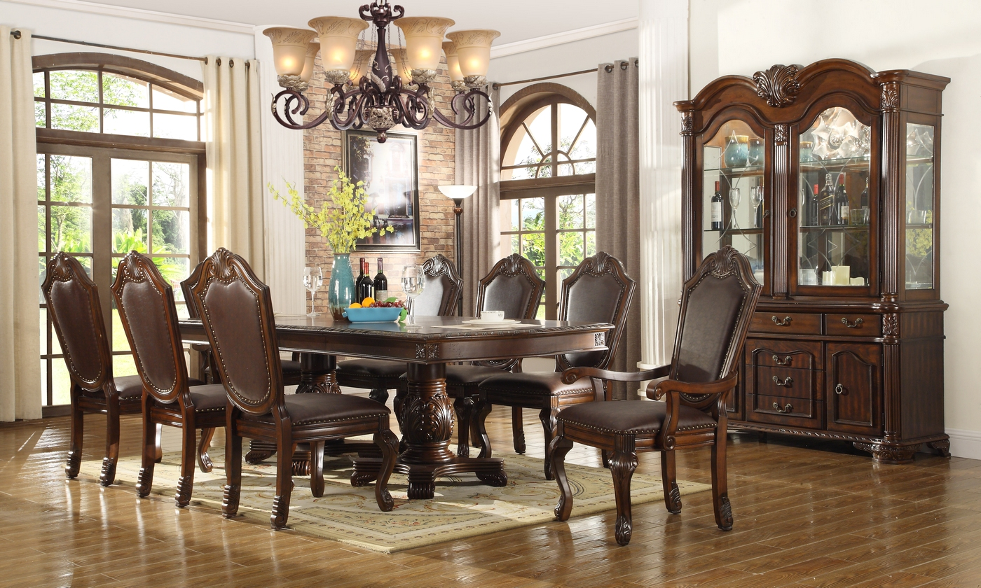 chateau traditional formal dining room furniture set free shipping. Black Bedroom Furniture Sets. Home Design Ideas