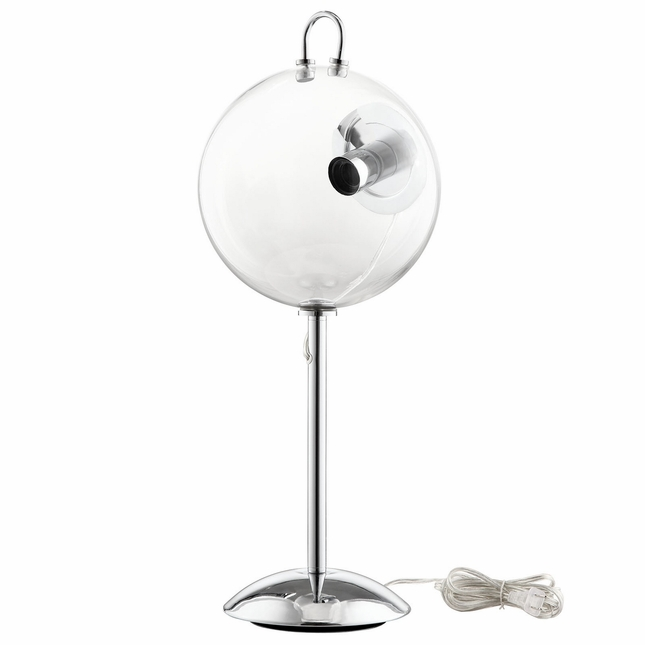 Cheer modern glass bubble table lamp with chrome plated frame clear aloadofball Gallery