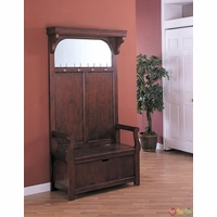 Cherry Traditional Curved Arms Molded Top Hall Tree