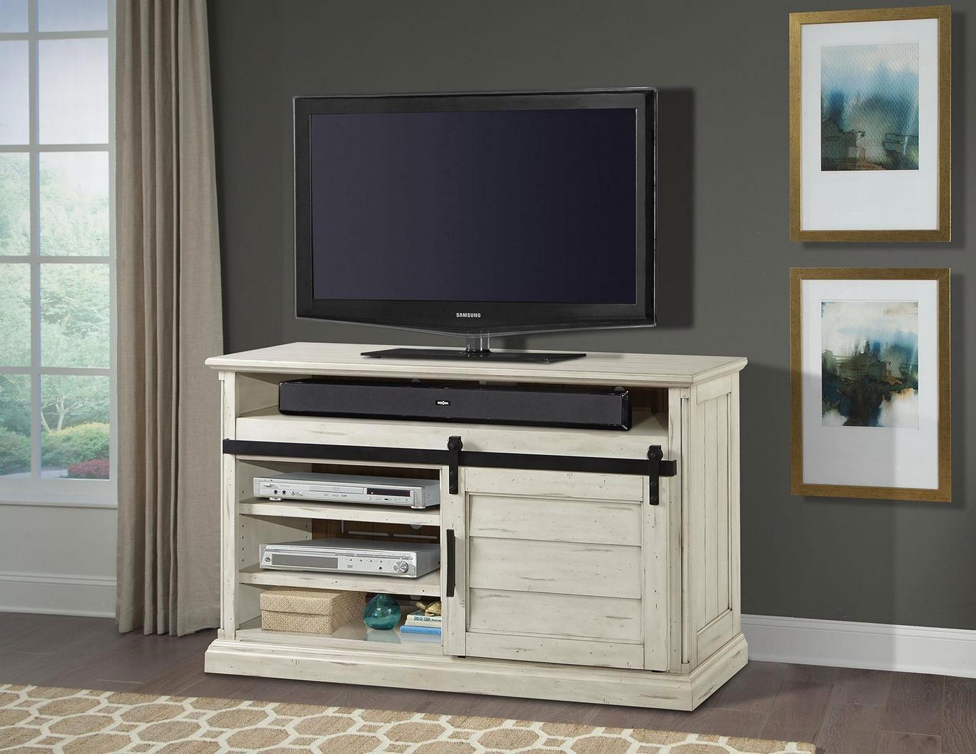 Chesapeake Country 55 Sliding Door Tv Stand In Distressed Tawny