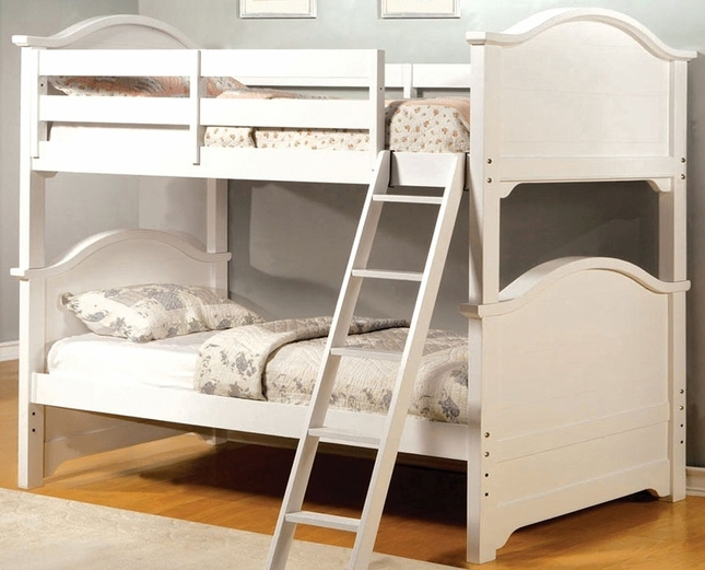Chesapeake White Bunk Bed with Angled Ladder