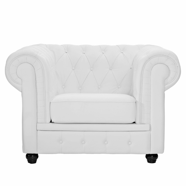 On Tufted Leather Armchair