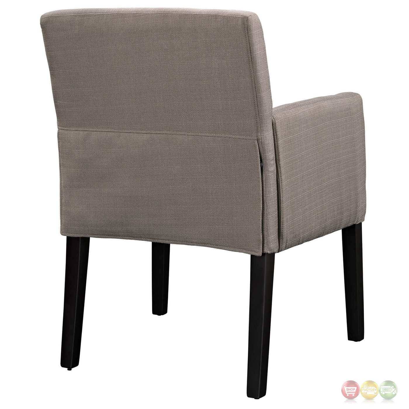 Chloe contemporary upholstered armchair with wooden legs gray for Armchair builder