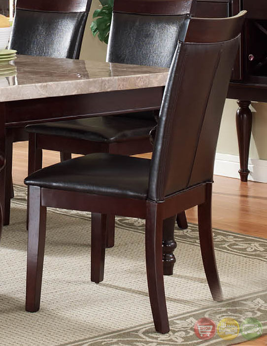 Chloe Transitional Dark Wood Casual Dining Set with ...
