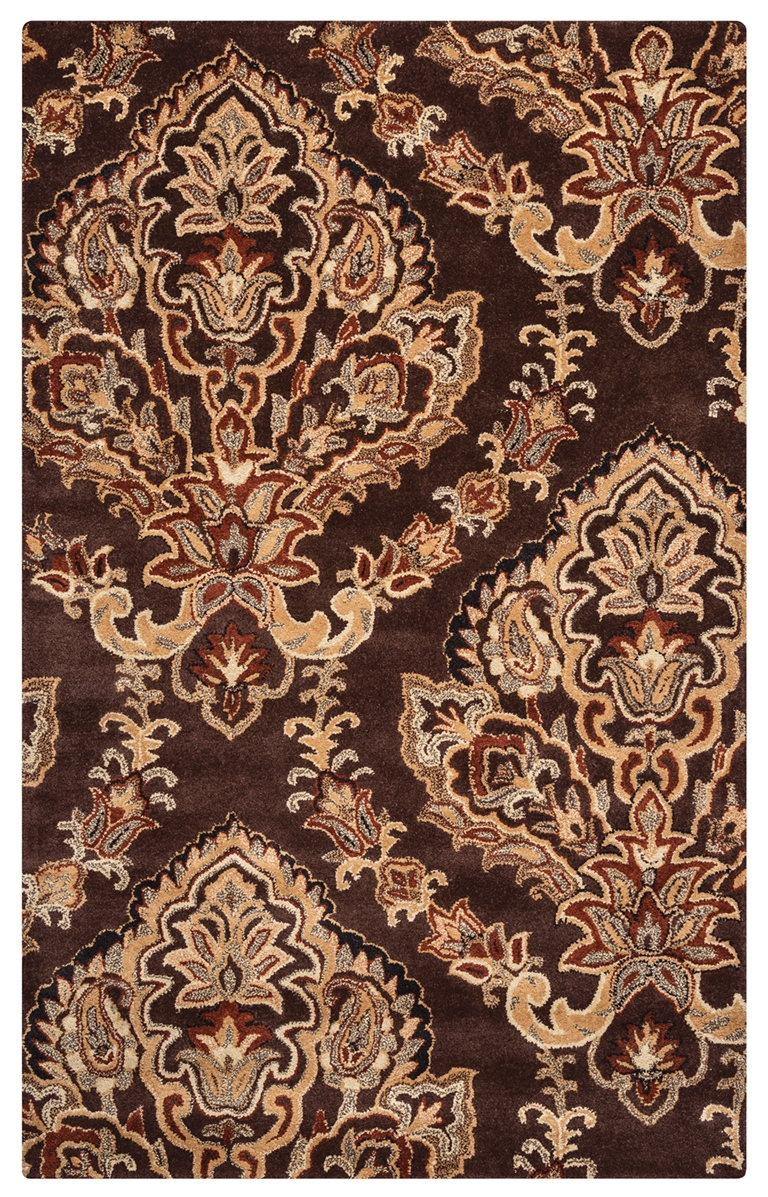 Rizzy Rugs Chocolate Damask Hand Tufted Area Rug Volare Vo1680