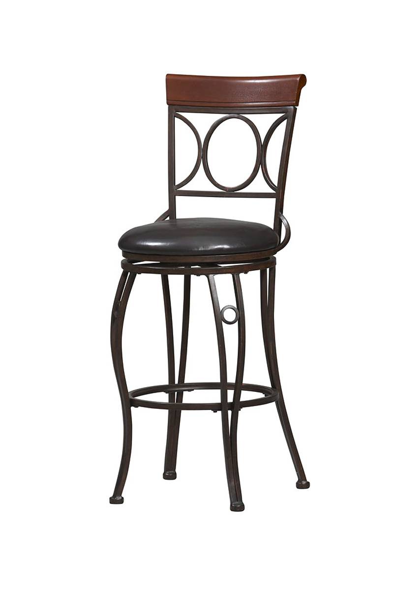 Circles Back Metal Counter Height Bar Stool