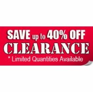 Clearance Items - Up to 40% OFF!