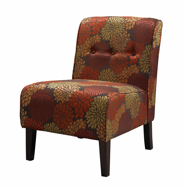 Coco Harvest Floral Fabric Accent Chair