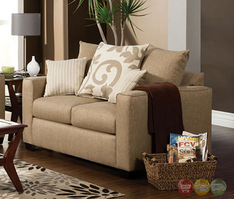 Colebrook Contemporary Stand Stone Living Room Set With Pillows Sm3011